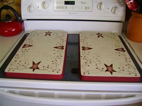 hearts and stars kitchen collection primitive country rusty tin stars hearts stove burner