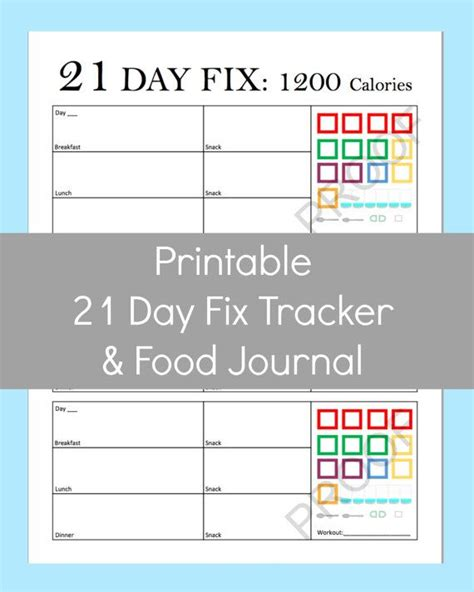 printable meal plan for 21 day fix 17 best images about 21 day fix printable sheets on