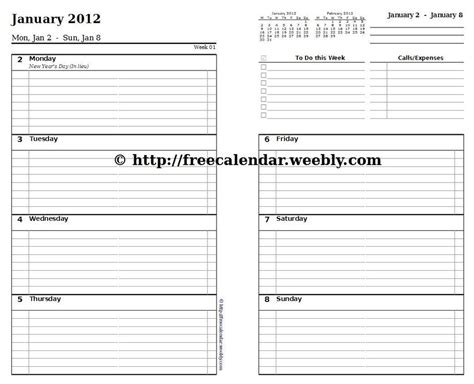 free printable day planner inserts 5 best images of free printable planner refills free
