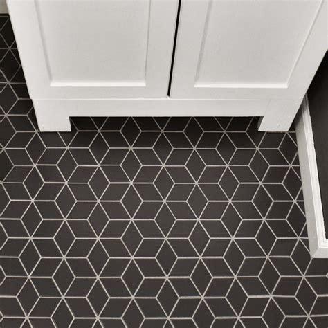 Retro Mosaic Bathroom Tiles retro rhombus 1 88 quot x 3 18 quot porcelain mosaic tile in gray