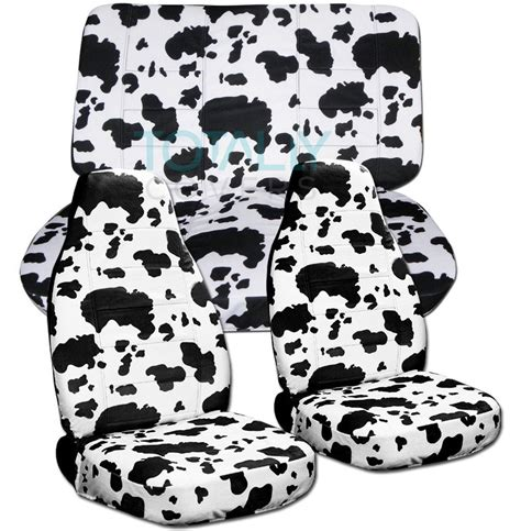 cowhide bench seat cover animal print car seat covers set semi custom zebra