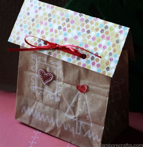 Paper Bag Gingerbread House Craft - paper bag munchkins and