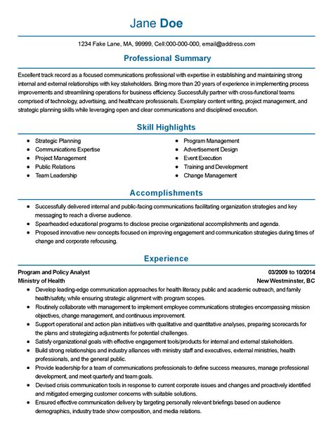 Health Policy Analyst Sle Resume by Policy Analyst Resume Resume Ideas