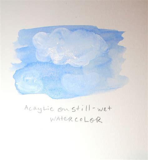 acrylic paint watercolor mixed media combining watercolor and acrylic in painting
