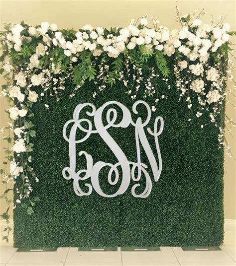 Wedding Guest Book Backdrop by Backdrop Sign Large Wooden Monogram Wedding Guest Book