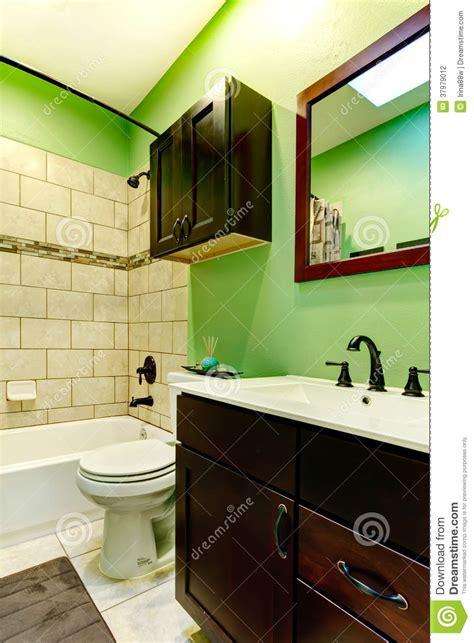 elegant green bathroom stock photography image 37979012