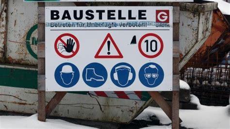 Baustellenschild Vorlage Bayern by Bauwirtschaft Knabbert Noch Am Langen Winter Auftr 228 Ge