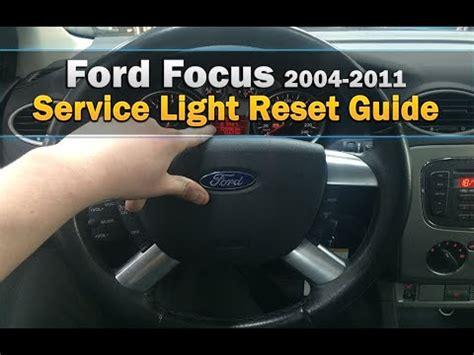 ford focus service light reset 2004 2016 youtube