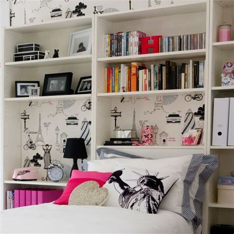 Bedroom With Lots Of Shelves Bedroom Books Pictures Shelves Wallpaper Image