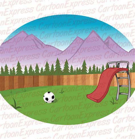 backyard cartoon cartoon vector illustration of a backyard background
