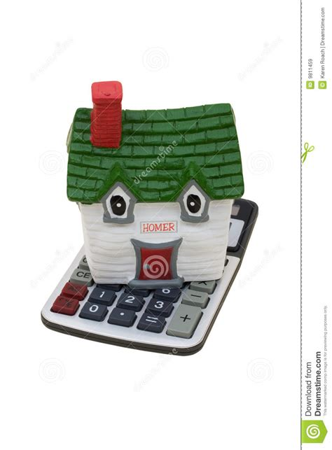 house mortgage calculation mortgage calculator royalty free stock images image 9811459
