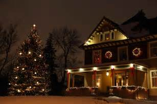Decorated outdoor christmas tree