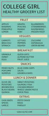 Dorm Room Dinner - healthy college grocery list the blogger network pinterest