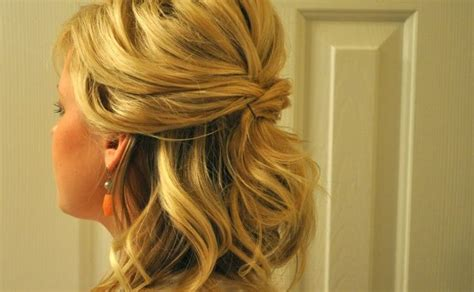 prom hairstyles oval face one shoulder dress headband prom hairstyles for medium hair half up half down with