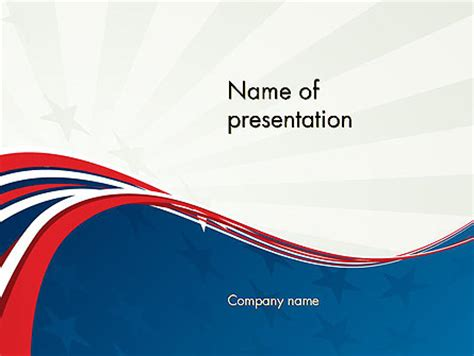 Patriotic Themed Powerpoint Template Backgrounds 11983 Poweredtemplate Com Patriotic Powerpoint Template