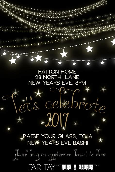 years party invitation  years eve
