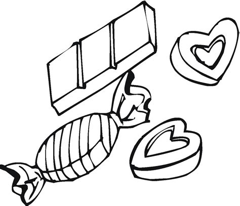 candy love box coloring pages pictures