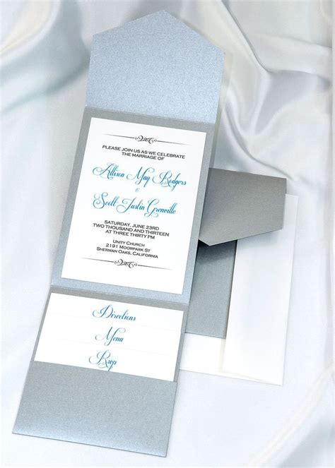 printable pocket wedding invitation kits lovely winter weddings are perfect for our deep silver