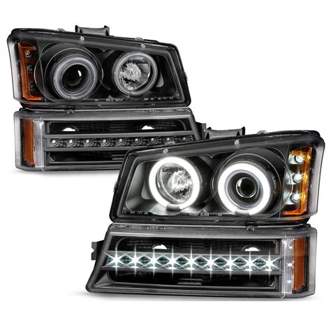 halo led lights for trucks 03 06 chevy silverado avalanche led halo projector