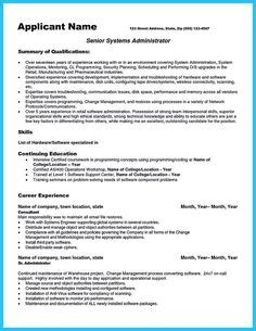 attract employer defined administrator resume system administrator resume includes a snapshot of the