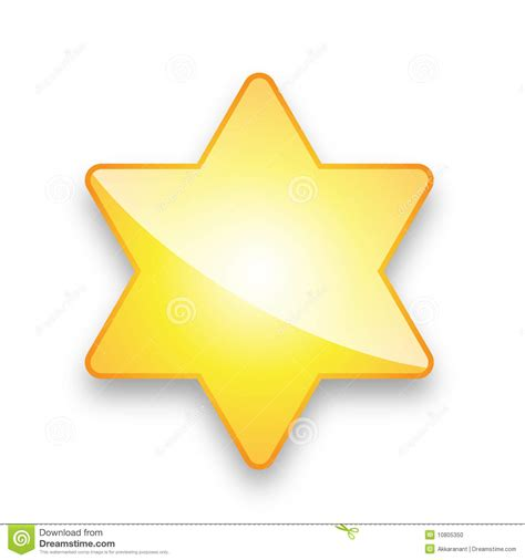 which corner do sts go in yellow star with 6 corners stock photo image 10805350