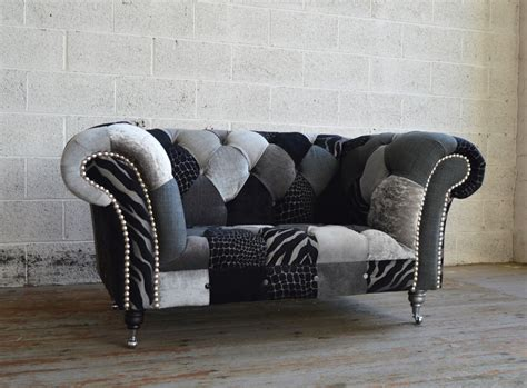 Walton Patchwork Chesterfield Snuggle Chair Abode Sofas Chesterfield Sofa And Chairs