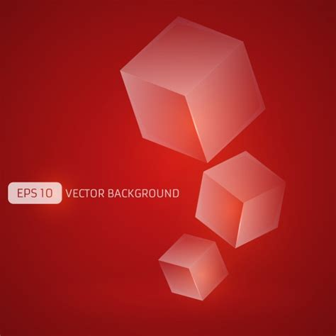 background with cubes vector free