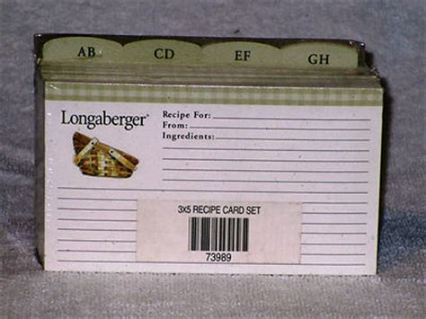 Longaberger Recipe Card Template by 100 Recipe For Cards 3 5 Francois And His