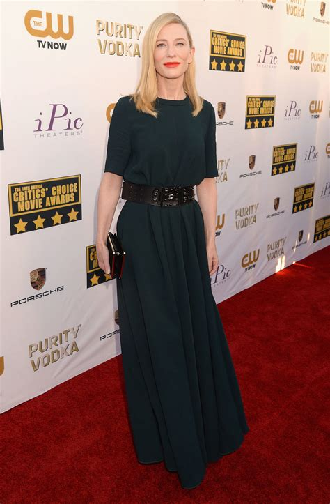 Catwalk To Carpet Cate Blanchett Carpet Style Awards by Cate Blanchett At The Critics Choice Awards 2014
