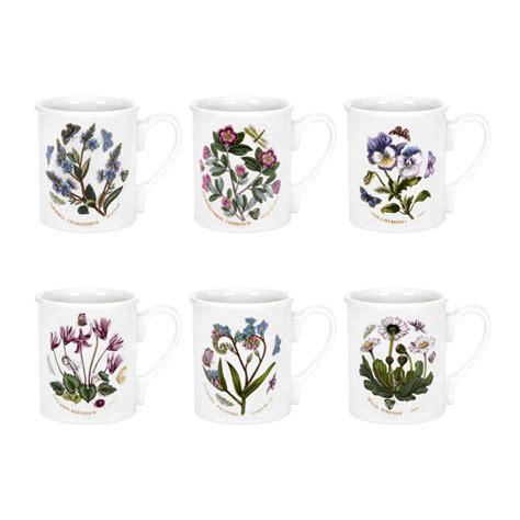 Portmeirion Mugs Botanic Garden Portmeirion Botanic Garden Breakfast Mugs Set Of 6 Portmeirion Uk