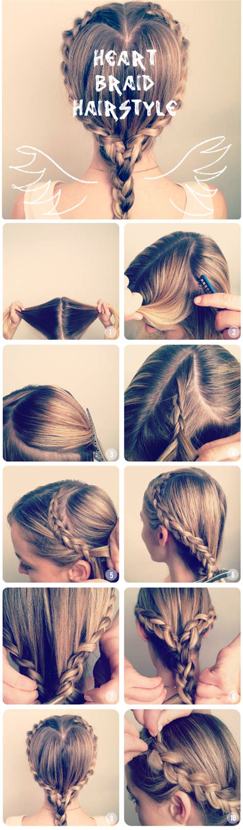 hair styles made into hearts how to make a heart braid hairstyle tutorials des tages