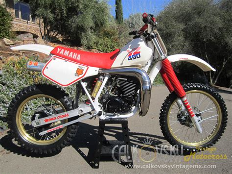 old motocross bikes 1987 yamaha yz 490 vintage motocross dirt bike