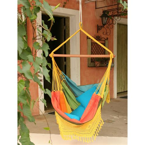 fabric swings brazilian cotton fabric hammock chair with fringe