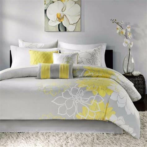 Modern Sets by Beautiful 6 Pc Modern Yellow White Grey Chic