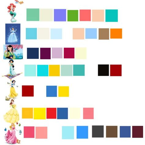 disney princess colors disney princess palette all disney disney canvas