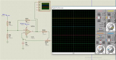 proteus oscillator output  absent electrical