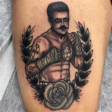 traditional boxer tattoo 50 traditional boxer designs for retro boxing