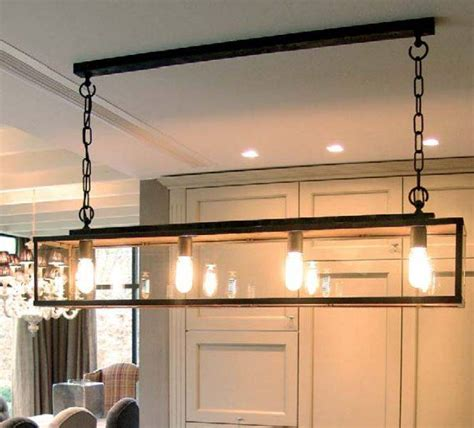 Dining Room Lighting Glass Rustic Pendant Light Glass Chain Dining Room 125cm E27x4