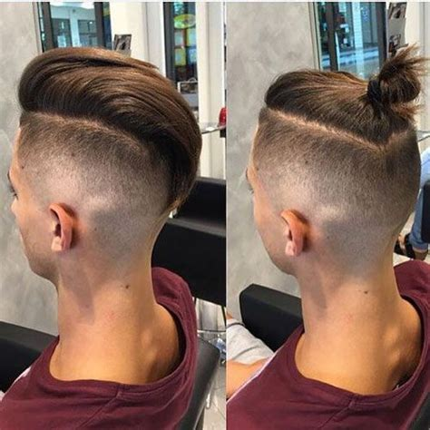 mens faux top knott men s top knot hairstyles knot hairstyles haircuts and