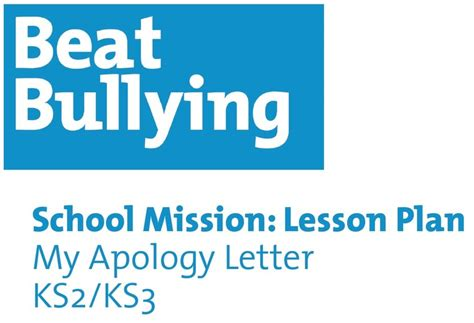 Apology Letter Lesson Plan An Apology Letter Try This Lesson Plan Which Aims To Help Students Identify Their Feelings
