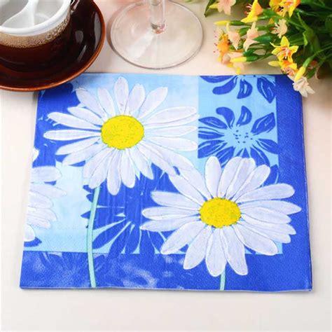 Paper Napkin Napkin Decoupage Tissu Tisu new sale table paper napkin tissue patterned flower vintage decoupage birthday wedding