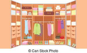 guardarropa habitacion guardarropa room furniture color vector lleno