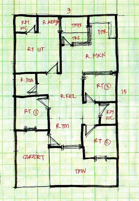 layout rumah lebar 10 meter denah new denah rumah ukuran 10 x 15 meter