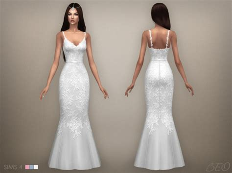 Wedding Dress The Sims 4 by Wedding Dress 07 At Beo Creations 187 Sims 4 Updates