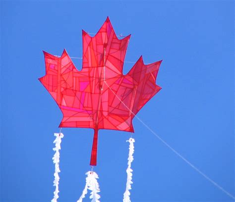 The Shavit Kite Gallery Canadian Maple Leaf Kite Project