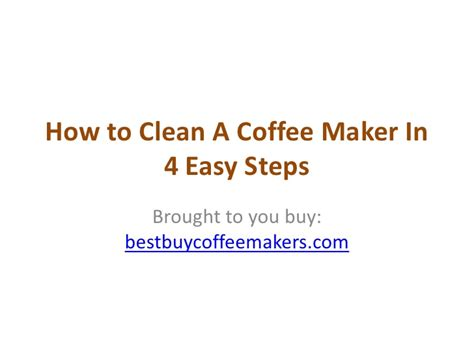 Detox Your In 4 Easy Steps by How To Clean A Coffeemaker In 4 Simple Steps