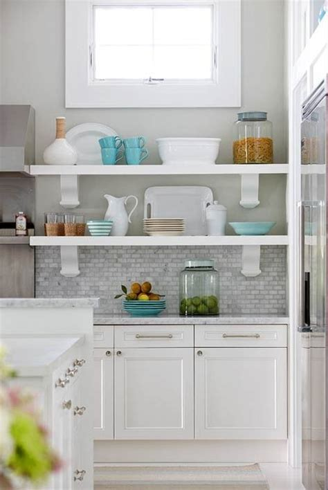 White Kitchen Cabinets With Grey Countertops Go Darker Gray Kitchen Walls With White Cabinets