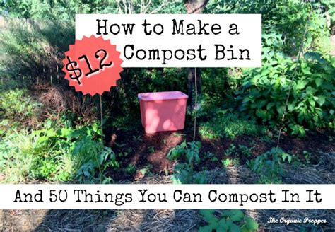 Ls You Can Put Things In by Make A 12 Diy Compost Bin 50 Items To Put In It The
