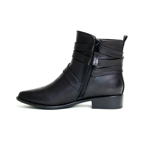 womens black boots reneeze lucia 01 womens ankle boots with wrap around