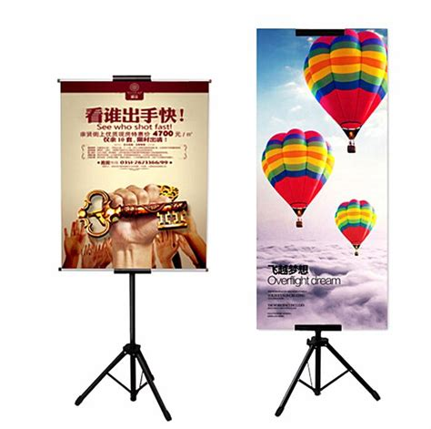 Tripod Banner best pop metal tripod bedframe hanging banner up display telescopic holder poster stand surface
